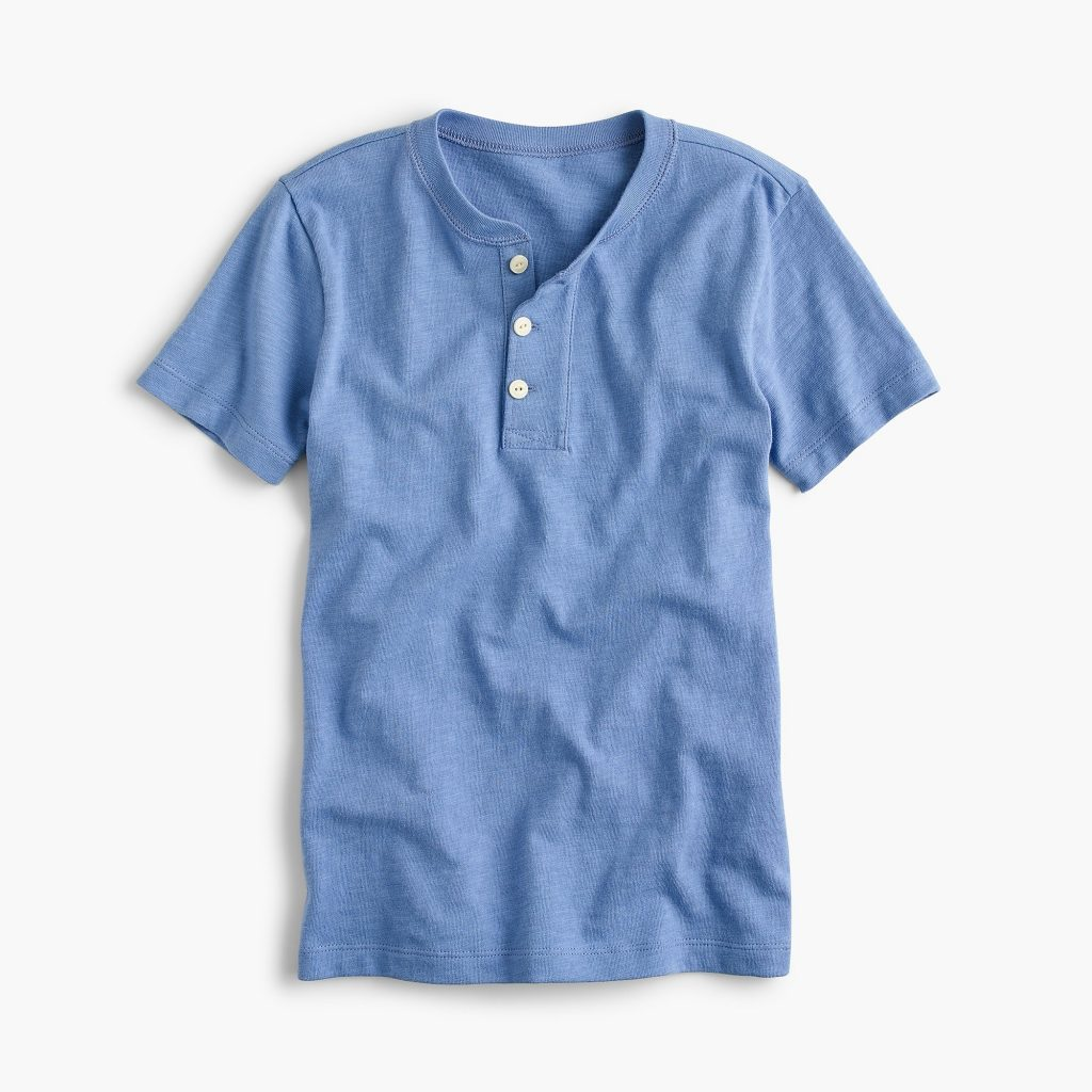 J Crew Boys Short Sleeve Henley in 4 colors on sale
