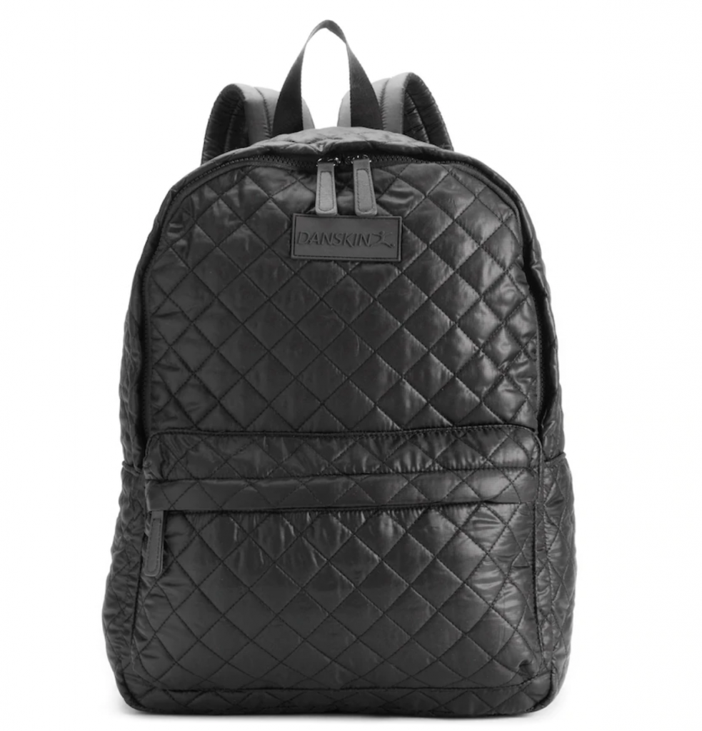 Cool backpacks for tweens and teens: Danskin quilted backpacks in 3 colors