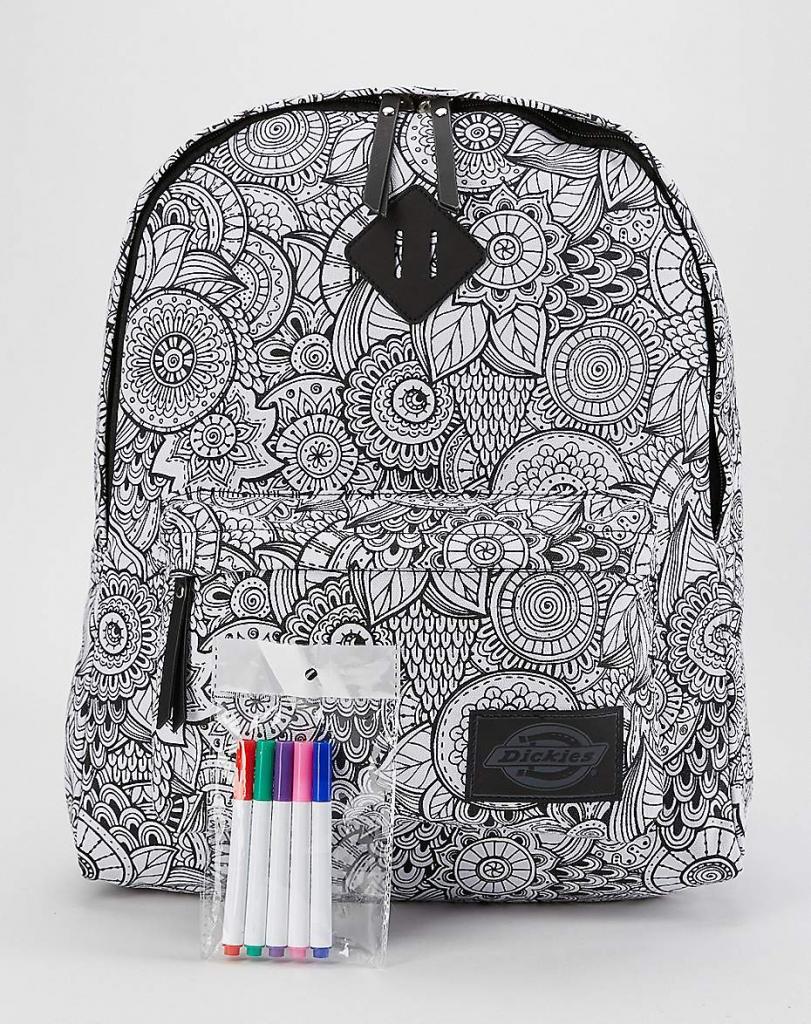 Cool backpacks for tweens + teens: Dickie's Color your own mandala backpack