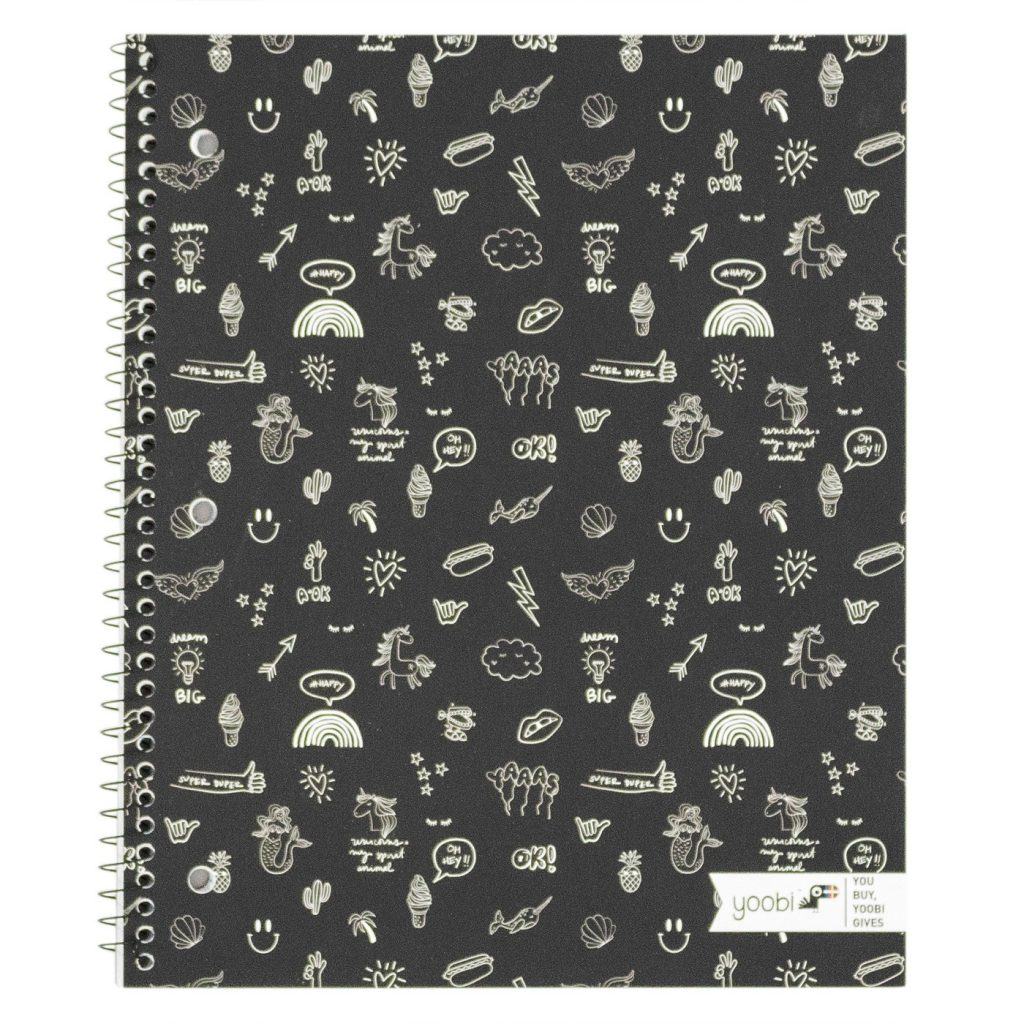 Doodle print spiral notebook by Yoobi: Fun back to school supplies and accessories under $10