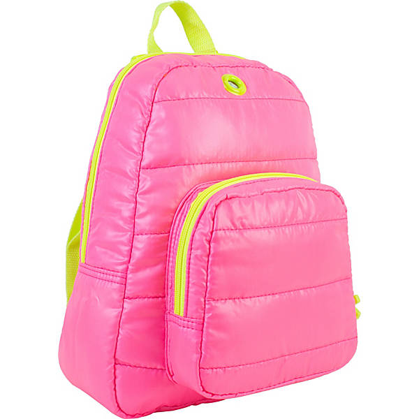 cool backpacks for preschool, kindergarten and little kids: Neon quilted backpack in multiple color combos