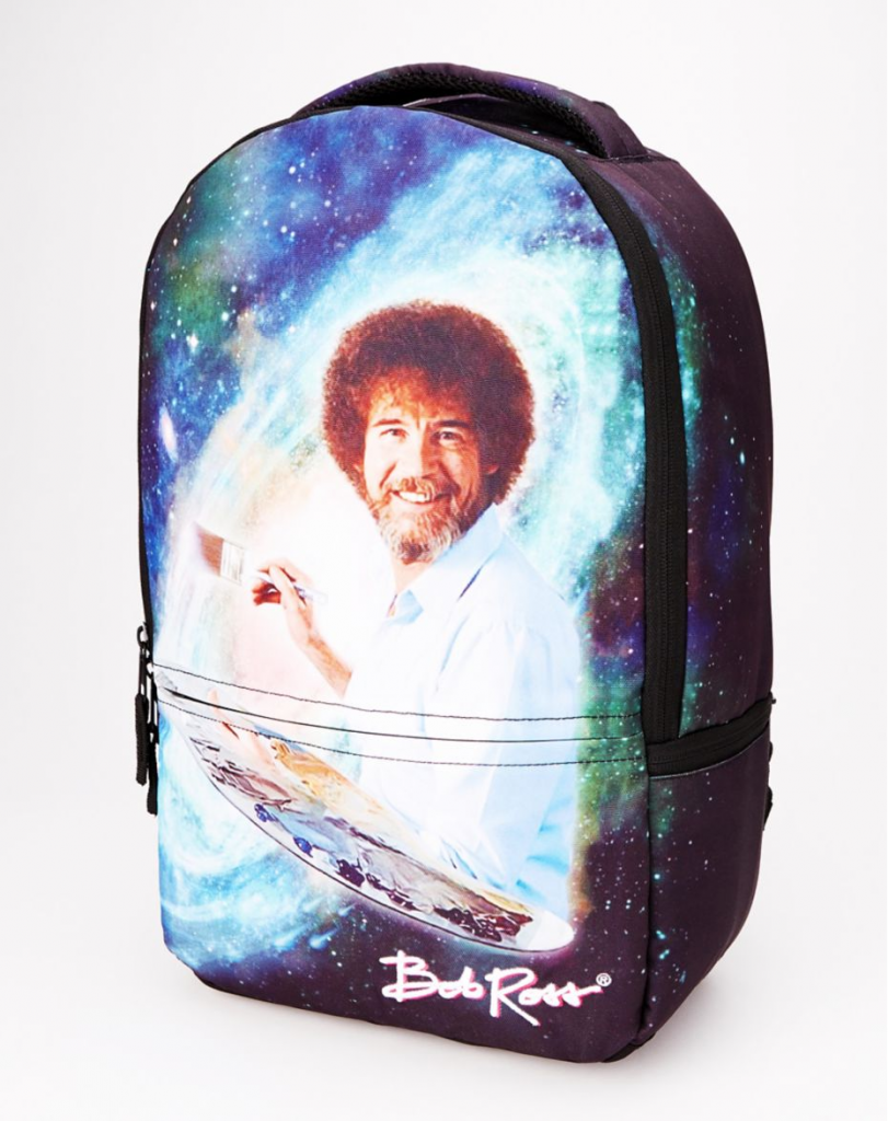 Cool backpacks for tweens and teens: Bob Ross Galaxy Backpack