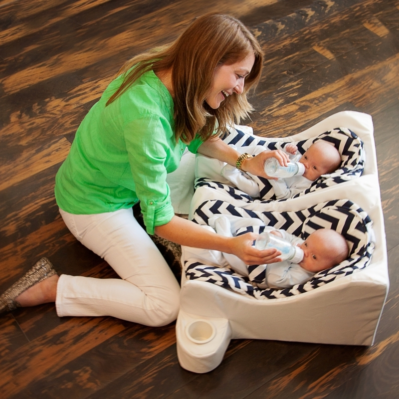 Best baby gear for twins: Table for Two feeding system