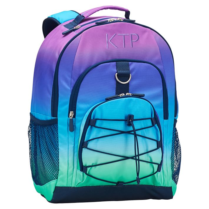 Cool backpacks for tweens and teens: Ombre Personalized backpack from Pottery Barn Teen