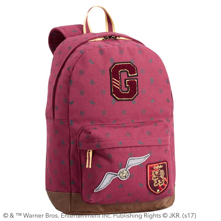 Cool backpacks for tweens + teens: Harry Potter Gryffindor Backpack, with other houses available too