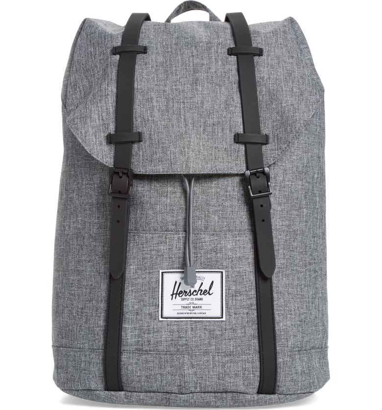 Cool backpacks for tweens and teens: Herschel backpack in heather grey
