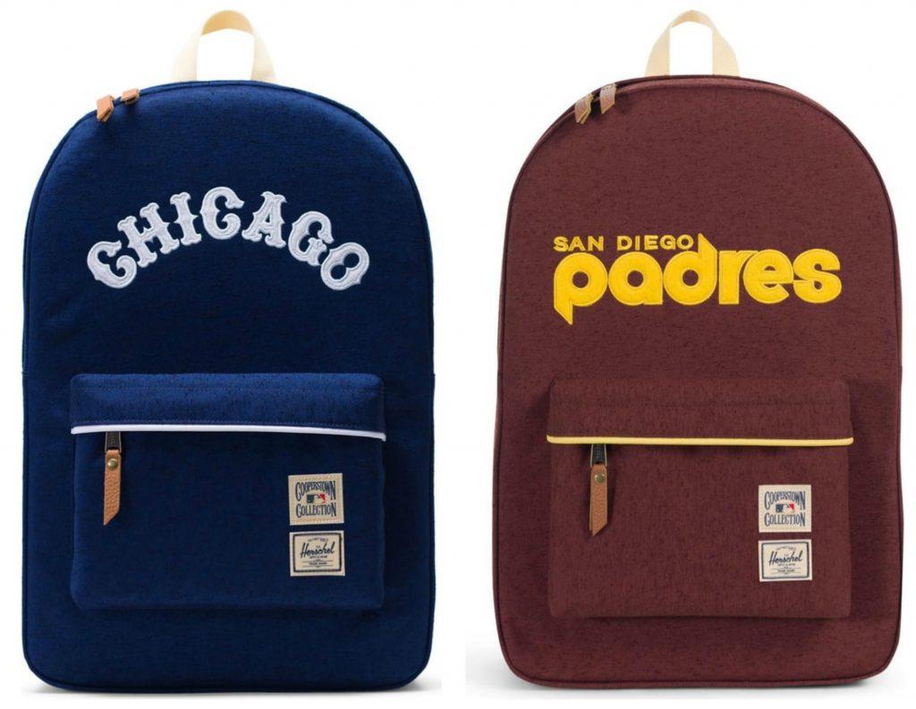Cool backpacks for tweens + teens: Herschel Supply Cooperstown MLB Vintage Team backpacks