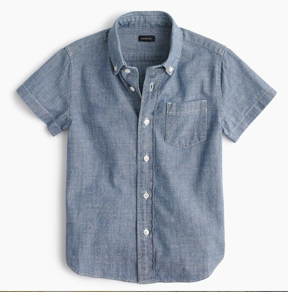 J Crew Boys chambray shirt on sale