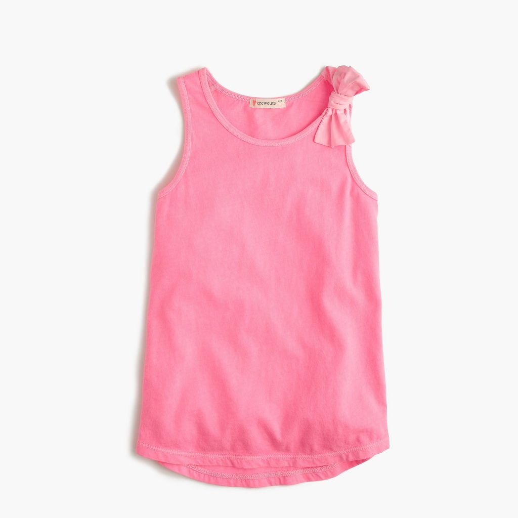 J Crew Girls Bow Tank Top in 7 colors on sale