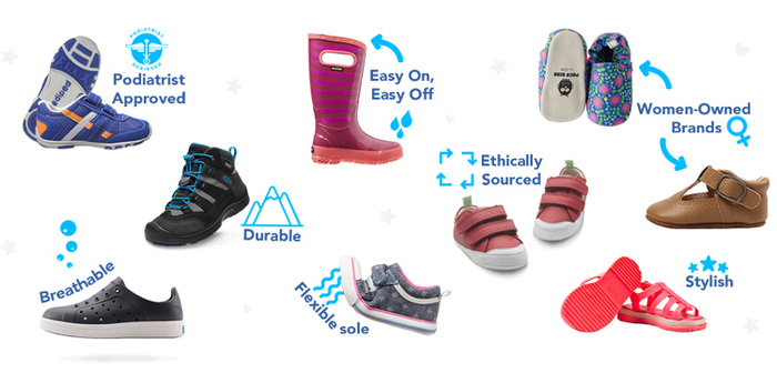 Jenzy app allows you to accurately determine your child's shoe size, then shop for the perfect size from top brands that parents love