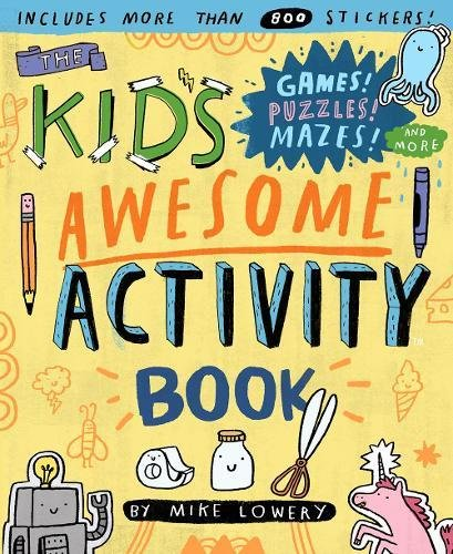 Fun new activity and puzzle books for kids: Kids Awesome Activity Book is packed with stickers, prompts, and ideas to get kids doing creative stuff away from the book, too | coolmompicks.com