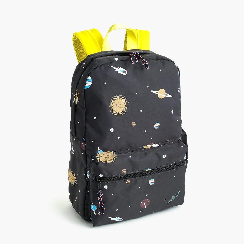 Cool preschool and kindergarten backpacks: Glow-in-the-dark space pack from JCrew