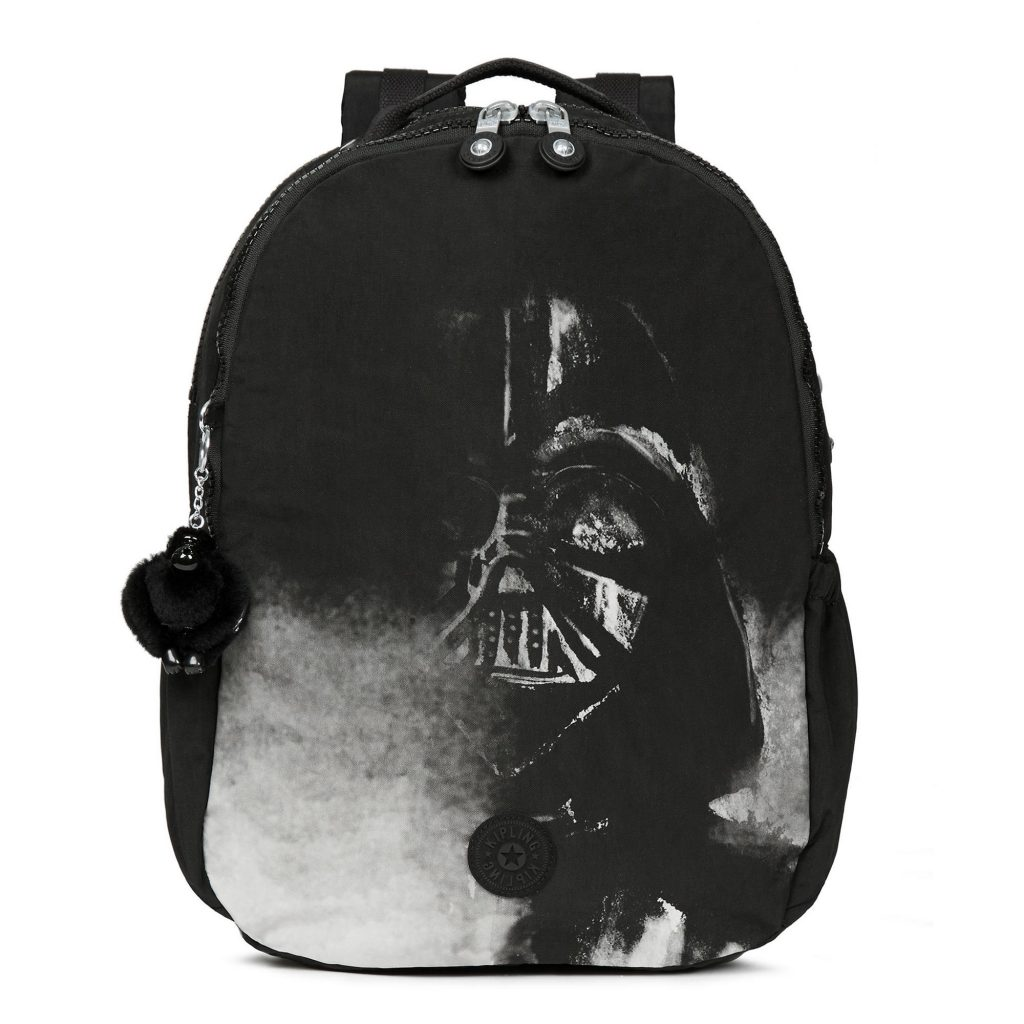 Cool backpacks for tweens and teens: Large Star Wars Darth Vader laptop backpack from Kipling