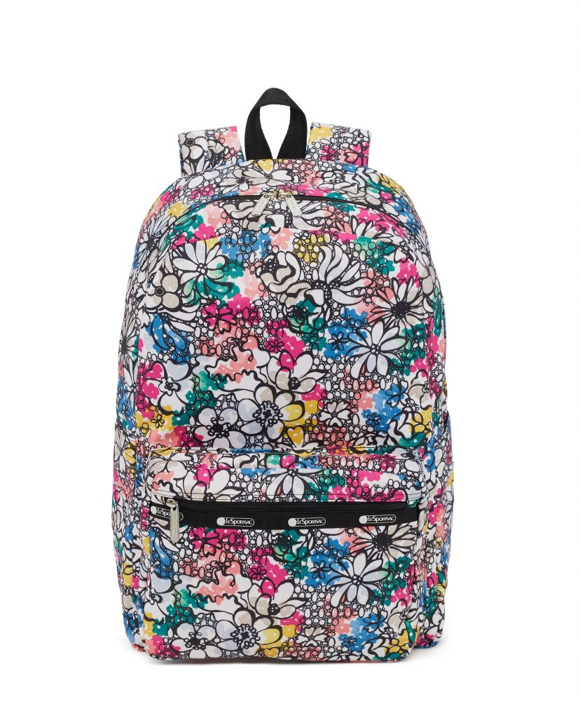 Cool backpacks for tweens and teens: The Floral print backpack from LeSportSac