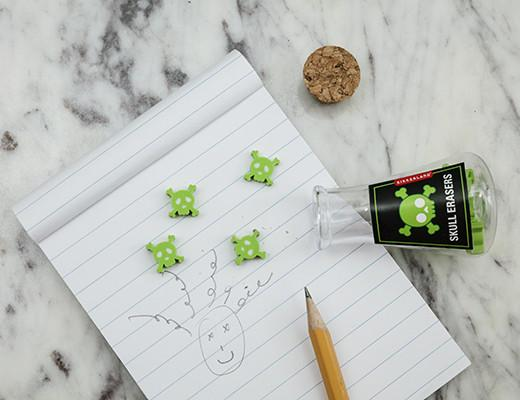Glow in the dark mad scientist skill erasers: School supplies under $10 that make school more fun