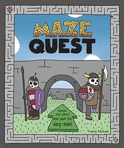 Fun new activity and puzzle books for kids: Maze Quest by Travis Nichols is as hilarious as it is engaging | coolmompicks.com