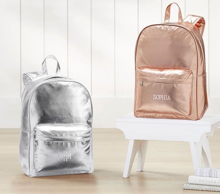 cool backpacks for preschool, kindergarten and little kids: Monique Lhuillier Metallic Backpacks