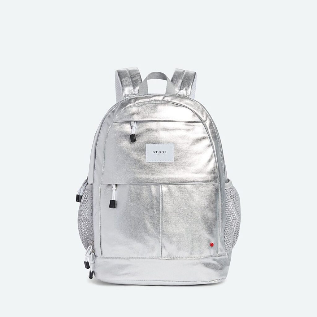 Cool backpacks for tweens and teens: Large metallic waist-strap backpack from State Bags