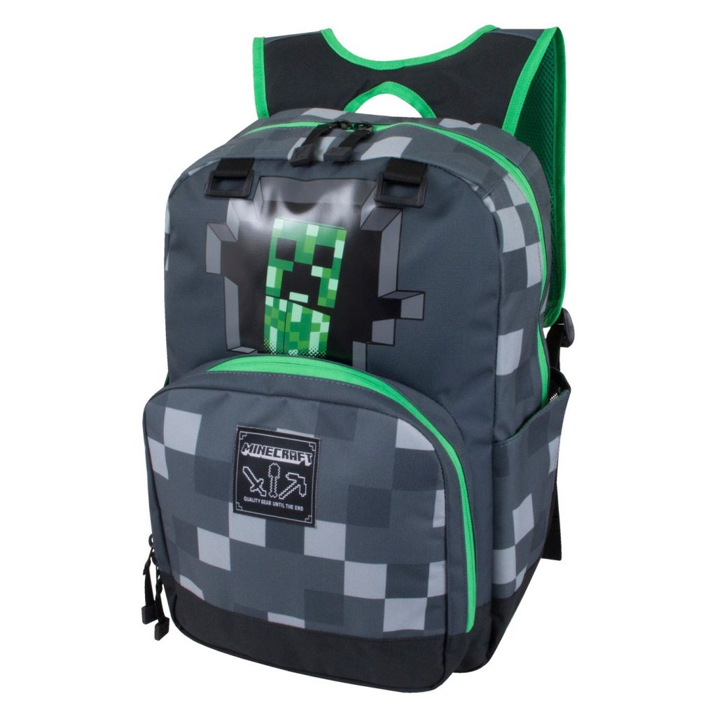 cool backpacks for preschool, kindergarten and little kids: Minecraft Creeper Backpack