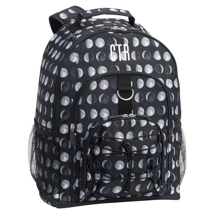 Cool backpacks for tweens and teens: Moon phases backpack at Pottery Barn Kids with optional personalization
