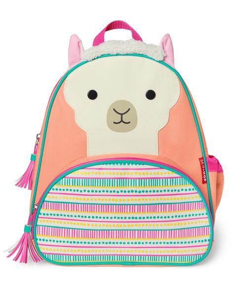cool backpacks for preschool, kindergarten and little kids: SkipHop llama zoo pack backpack
