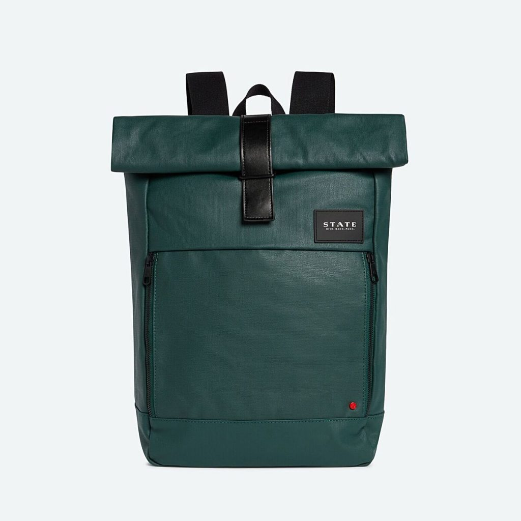 Cool backpacks for tweens, teens and big kids: State Rolltop Colby Backpack in Coated Canvas