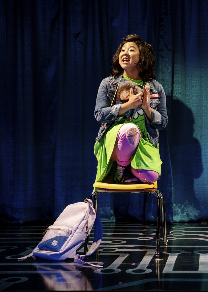 Stephanie Hsu in Be More Chill, off-Broadway at the Signature Theater