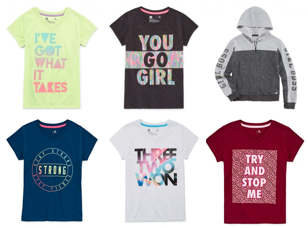 Style trends for back to school 2018: Strong girl graphic message tees
