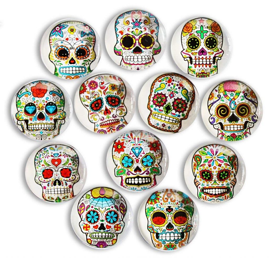 Sugar skull magnets: Fun back to school supplies and accessories under $10