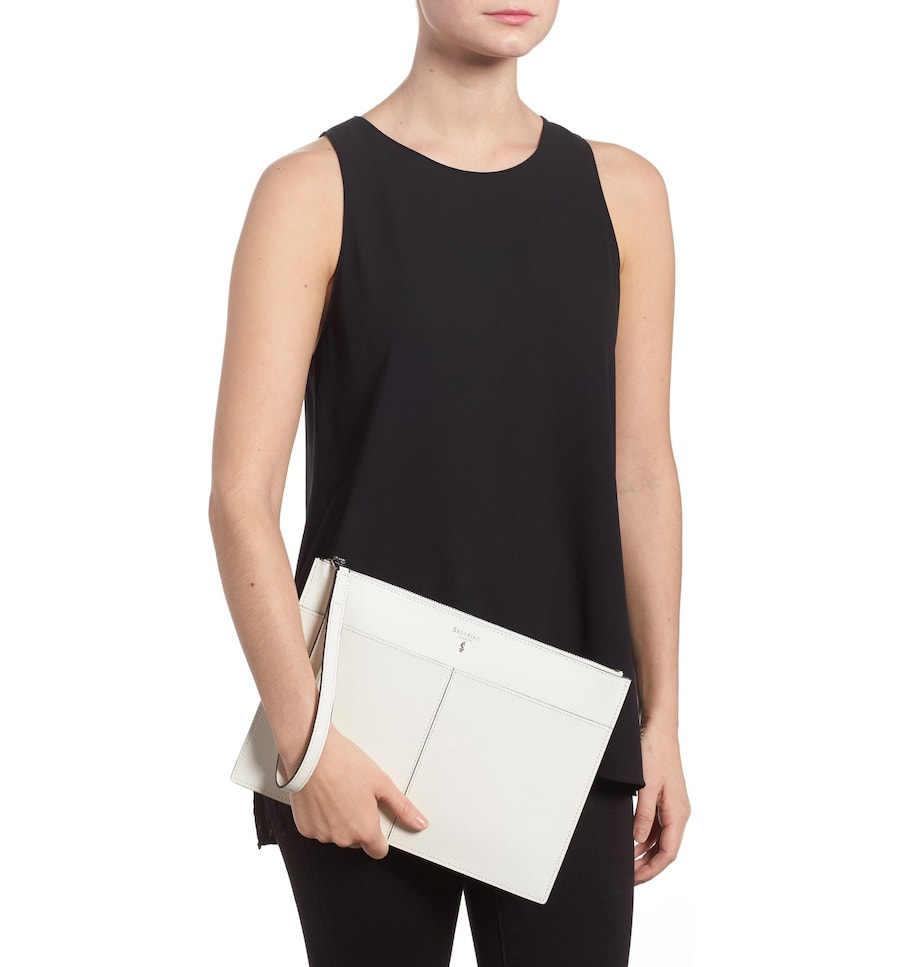 Best designer summer handbags on sale at Nordstrom: Serapian Milano clutch