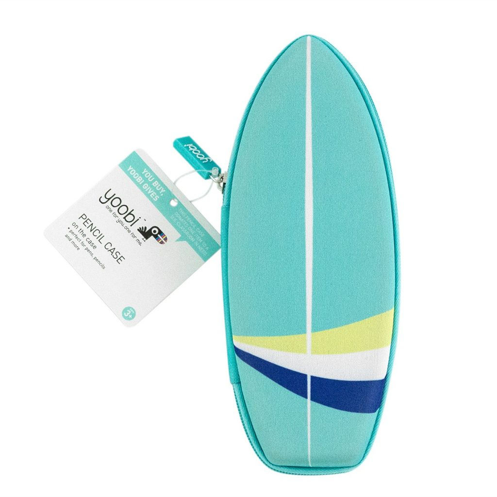 Surfboard pencil case by Yoobi: Cool back to school supplies under $10 to make school more fun