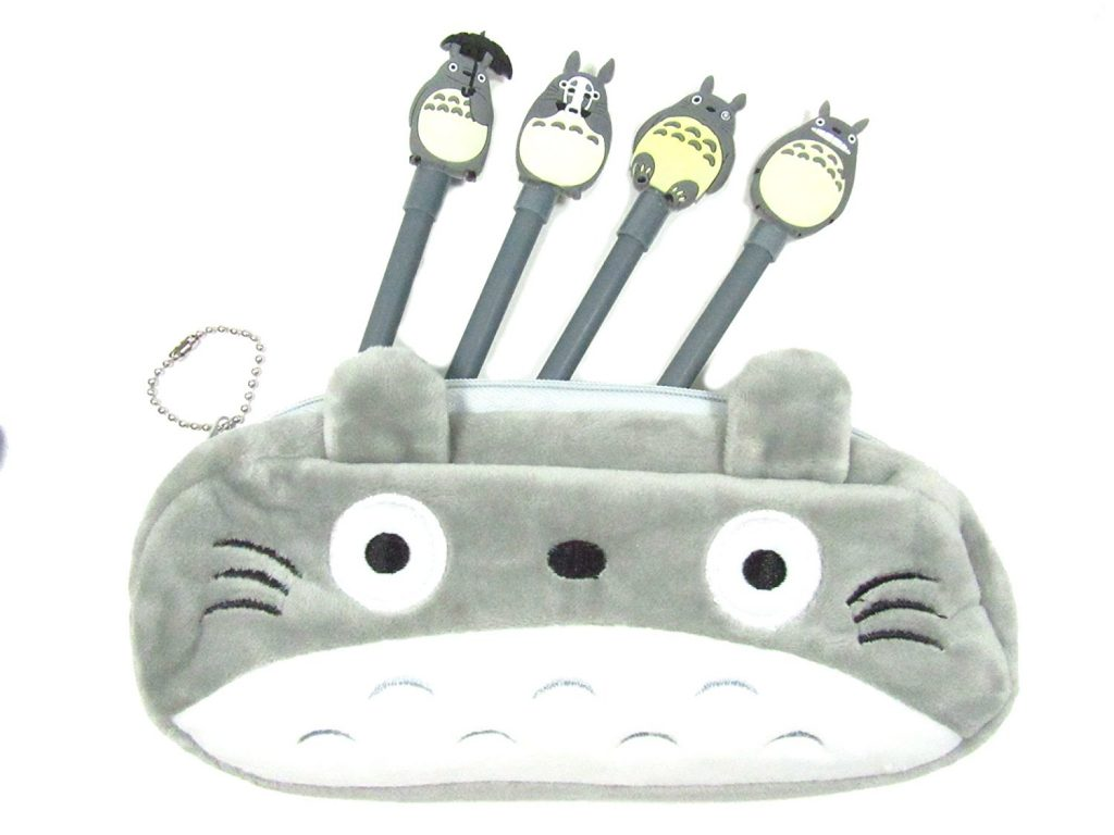 Totoro pencil case + 4-pen set: Cool back to school supplies under $10