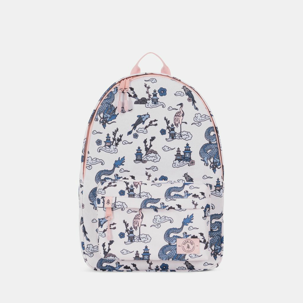 Cool backpacks for tweens and teens: New vintage dragon print large backpack from Parkland