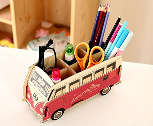 Vintage bus pencil holder: Fun back to school supplies and accessories under $10