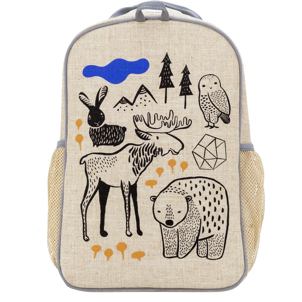 cool backpacks for preschool, kindergarten and little kids: Unisex Wee Gallery nordic print backpack from SoYoung