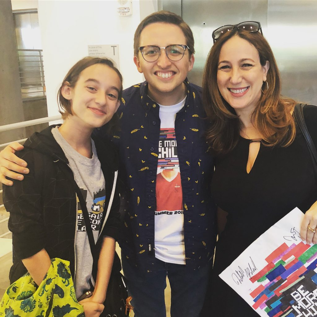 Thalia, me and Will Roland at Be More Chill fan event | © Liz Gumbinner