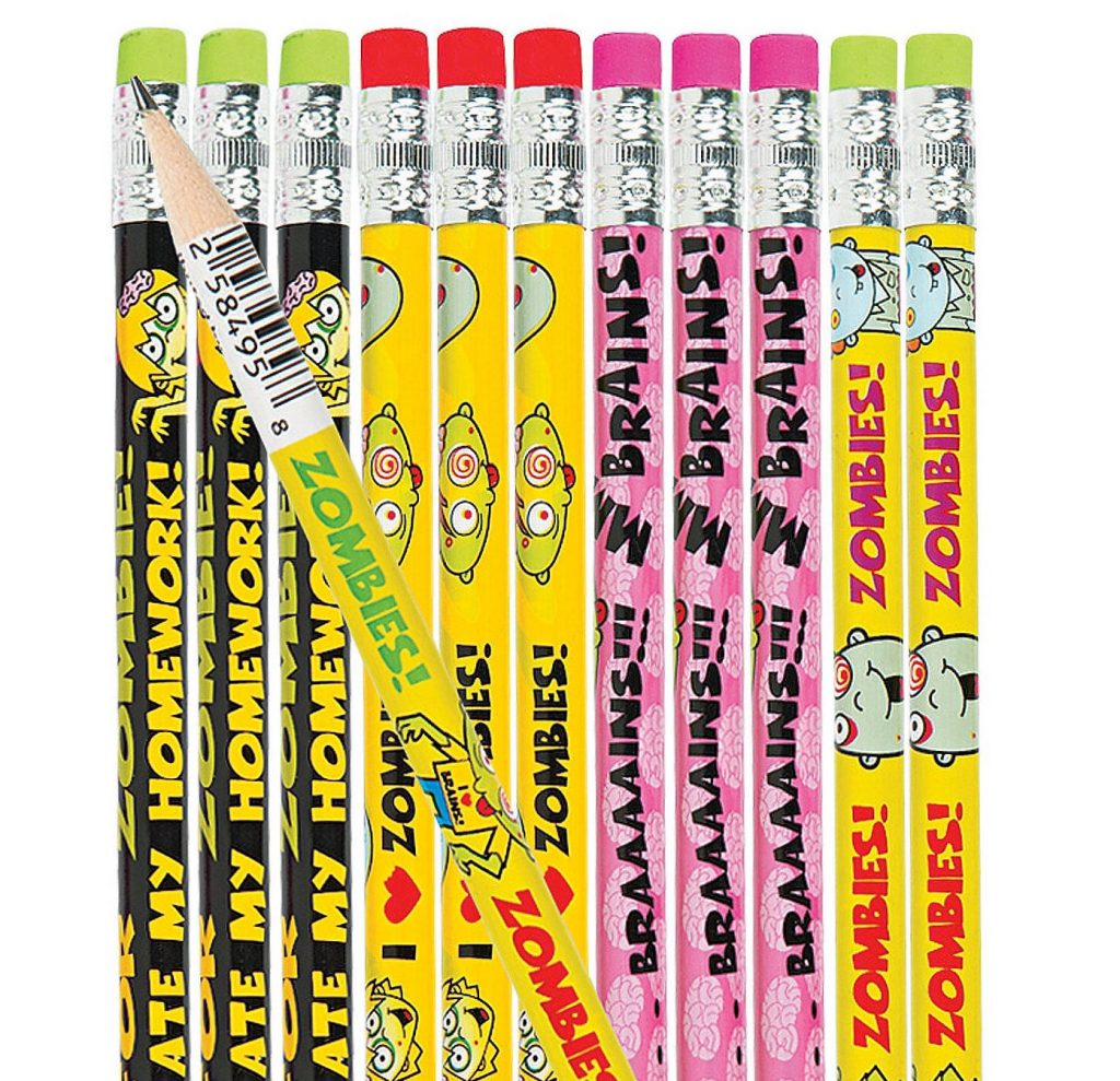 zombie pencil set: Fun school supplies under $10