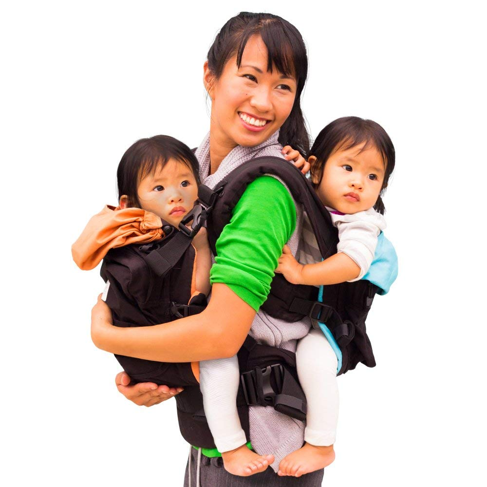 Best baby gear for twins: The TwinGo baby carrier for, you guessed it, twins!