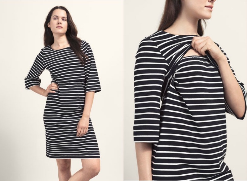 Boob Design's Simone Nursing Dress is a must-have for new twin moms, to make you look and feel great