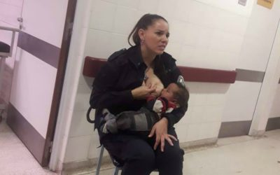 Our new hero: The police officer who breastfed a starving baby herself