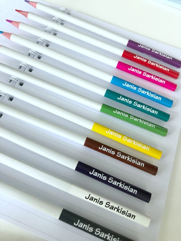 Cool personalized colored pencil set for back to school