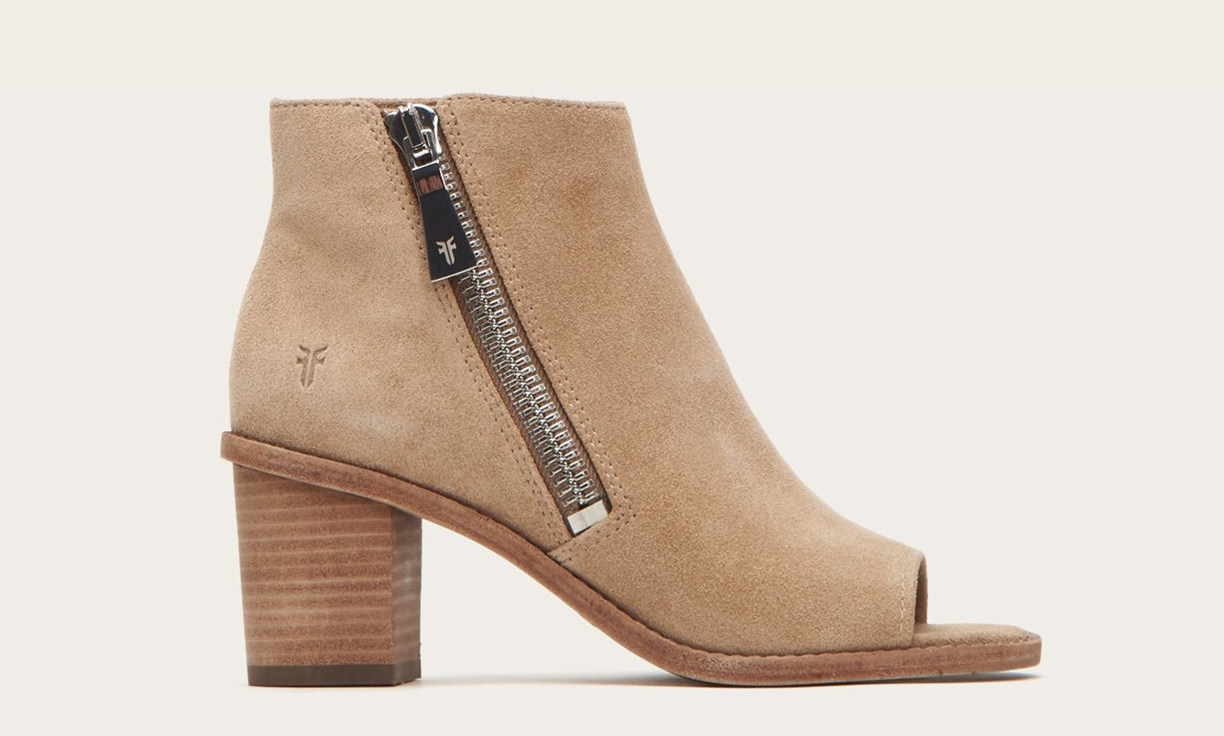 Get a great deal on Brielle Zip Peep Booties at the FRYE sale