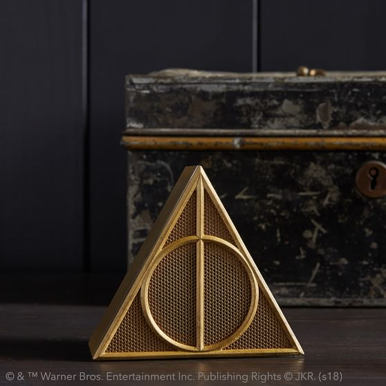 Harry Potter collection at Pottery Barn | Deathly hallows bluetooth speaker