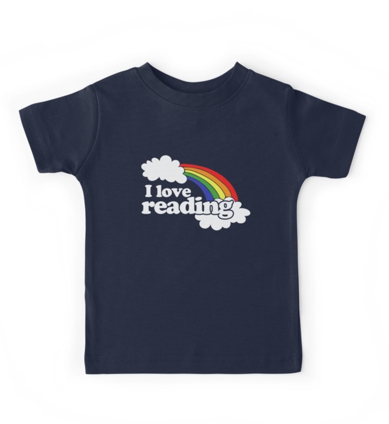 I Love Reading Kids Rainbow T-shirt at Red Bubble