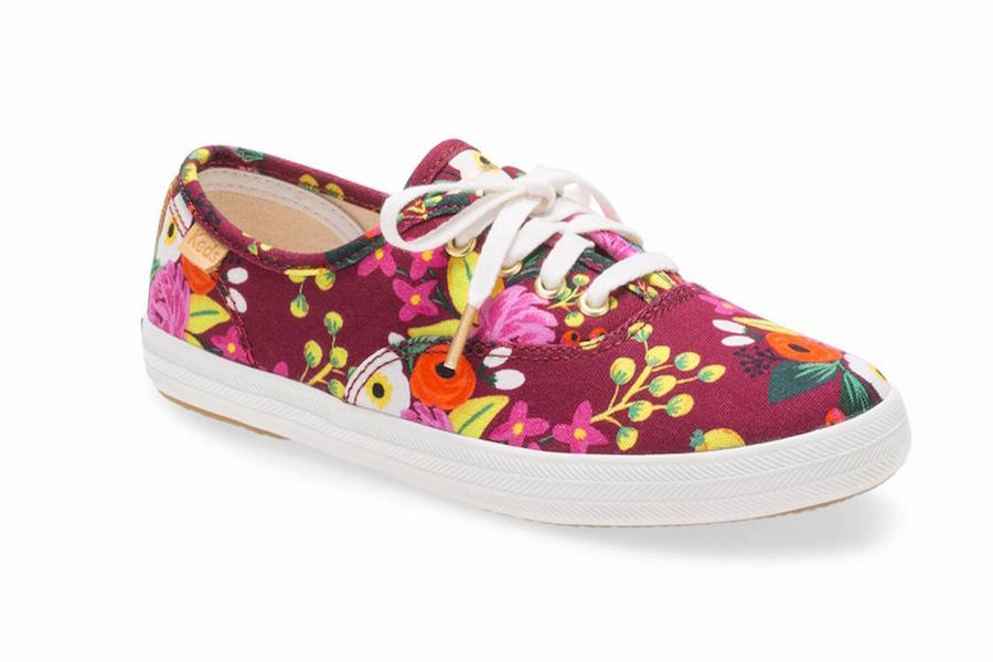 Now in kids' sizes: Keds x Rifle Paper Co. floral sneakers like this Champion Vintage Blossoms pattern