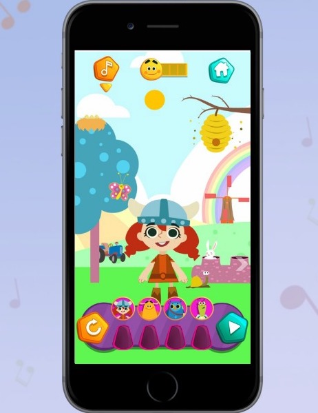 The Kintoons Nursery Rhyme DJ app is a safe, fun space for young kids to engage with music + their favorite Kintoons characters (sponsor)