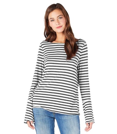 Labor Day sales: Michael Stars Riviera Stripe Bell Sleeve Tee