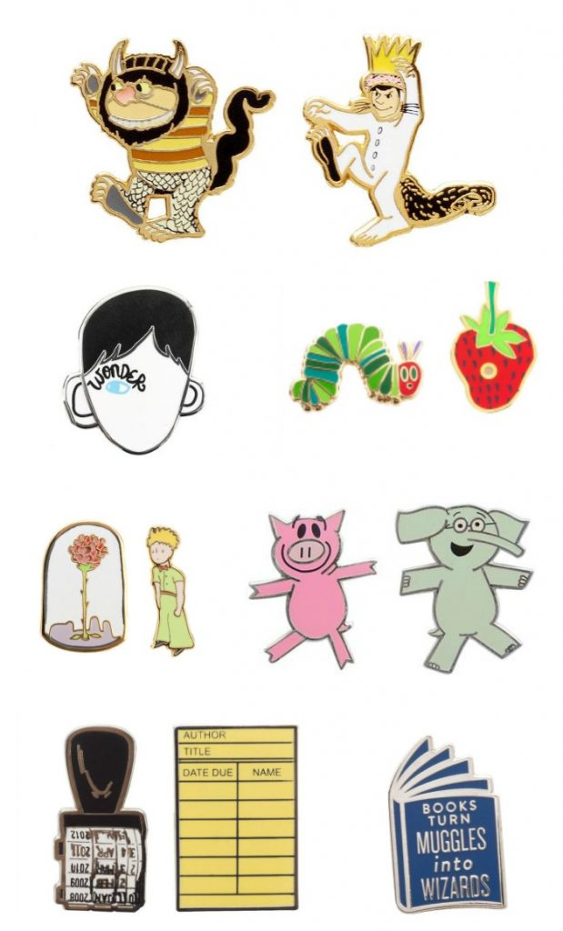 The new literary collection of backpack bling from Out of Print - how many of these books have your kids read?