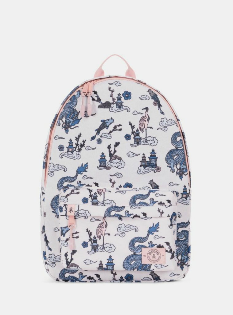 Parkland backpacks in new medieval dragon print