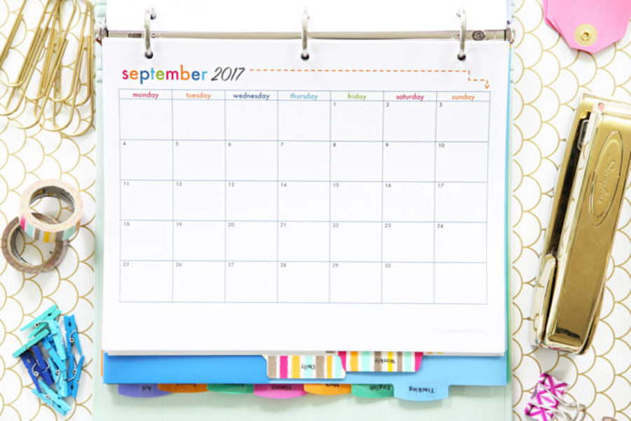 5 great printable academic calendars to get you organized for the new school year
